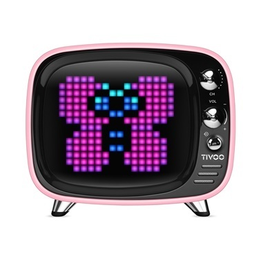 Divoom Divoom Tivoo Pixel Art Smart Pembe Bluetooth Hoparlör Pembe